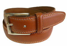 MEN CASUAL /DRESS LEATHER BELT Light Brown S / M / L / XL $6.95 Free Shipping