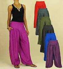 2 Pocket Pants Boho Aladin Shalwar Sarouel Pluder Casual SolidColors Variations