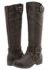 "Madden Girl by Steve Madden NEW ""Legacie"" BROWN Knee Tall Buckle Riding Boots"