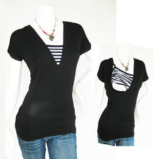 HELENA Breastfeeding Top Nursing Shirt, Tshirt, Tops Maternity Clothes BLACK New