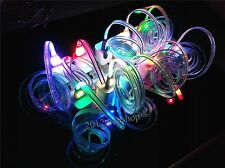 10 x Colors LED Flash Happy Face USB Charger Cable For Samsung Galaxy S4 S3 HTC
