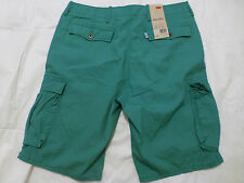 NWT MENS LEVIS CARGO SHORTS $50 GREEN 12463-0032