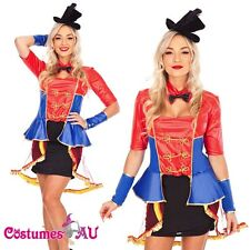 Ladies Ringmaster Circus Lion Tamer Costume Halloween Fancy Dress Party Hat