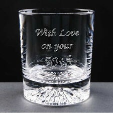 Personalised 8oz Iceberg Base Whisky Glass Engraved 40th 50th 60th Birthday Gift