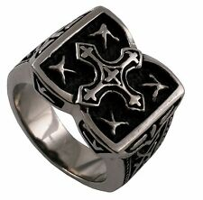 NEW!!! Men's Jewelry Stainless Steel Oxidized Celtic Cross Design Ring