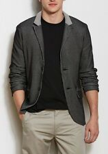 Armani Exchange A|X Men's Bi-Colored Waffle Textured Knit Blazer Jacket