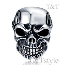 High Quality TTstyle 316L Stainless Steel 3D Skull Ghost Ring Size 6-16