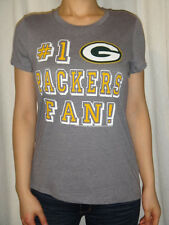 "Green Bay Packers NFL ""#1 PACKERS FAN!"" Womens Tee T-Shirt Size XS-2XL"