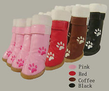 Small dog winter boots, water repellent boots,protect against ice,salt,abrasive
