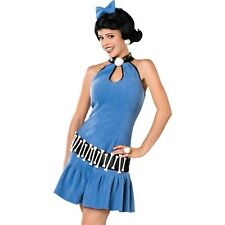 Adult Betty Rubble The Flintstones Costume Stone Age Cartoon Party Outfit & Wig