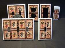 SOUTHWEST CHILLI PEPPERS TILE   IMAGE LIGHT SWITCH OR OUTLET COVERS MULTI SIZES