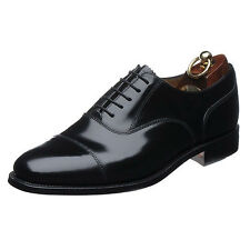 **SALE** MENS LOAKE BLACK LEATHER CAPPED OXFORD LACE UP SMART OFFICE SHOES 200B