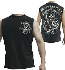 Sons Of Anarchy Reaper Muscle Tank Top Samcro Shield Authentic Adult Shirt NEW