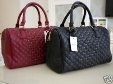 MANGO MNG Studded Quilted Bowling Bag Crossbody Shoulder Tote Shopper Handbag