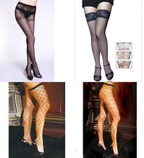 Ladies Black Pantyhose Sexy Fishnet Stocking Lingerie Underwear Tights Suspender