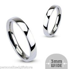 Personalized Silver Promise Ring / Name Ring* Stainless Steel * Free Engraving!