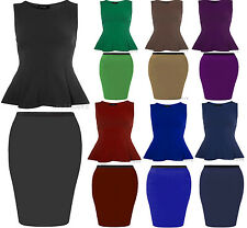 New Womens Plus Size Skater Top Midi Pencil Skirt Mix & Match Special Offer16-26