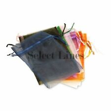 "Pack of 12pcs Assorted Colors 3""x 4"" Organza Jewelry Pouches"