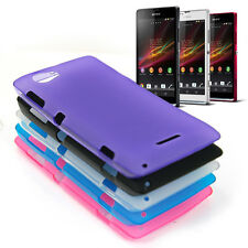 Glossy Frosted TPU GEL Case Cover for Sony Xperia L, C2104, C2105, S36h