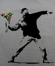 T-Shirt FLOWER THROWER graffiti banksy stencil street club wear size M-XL GP7