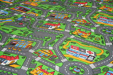Kids Bedroom Playroom Carpet FREE DELIVERY Roads Cars Play 4m Wide Any Size x 4m