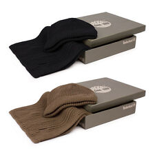 Brand New Mens Timberland Beanie Hat And Scarf Gift Set