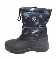 Men's Waterproof Warm Insulated Comfort Cold Winter Snow Boots Shoes Zipper Y06