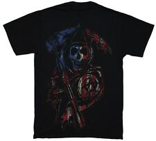 Sons Of Anarchy Americana Reaper Samcro SOA Officially Licensed Adult T-Shirt