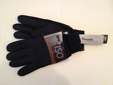 NEW Men's ISOTONER Brushed Microfiber Thinsulate Platinum Gloves Black One size