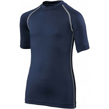 Rhino Base Layer Top Junior Unisex Short Sleeve Sports Compression Body Fit Top