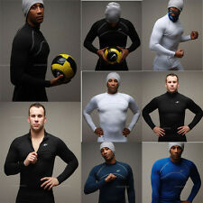 Mens Long Sleeve Winter Thermal Fleece Shirts Tops Under Base Layer Compression