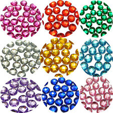 200 Acrylic Rhinestone Flatback Faceted Round Gems 10mm No Hole Pick Your Color