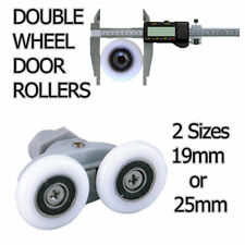 DOUBLE WHEEL SHOWER DOOR CUBICLE ENCLOSURE 19mm or 25mm SIZES AVAILABLE