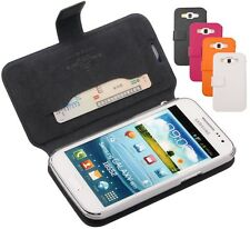 Genuine Leather Case Cover Wallet for Samsung GT-i8552 Galaxy Win Duos p i8550