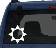 Weather Symbol #5 - Sunny Summer Day Forecast   - Car Tablet Vinyl Decal