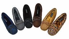 Women's Loafer Flats Faux Soft Suede Fur Lined Moccasin Loafer Slippers SZ 5-10