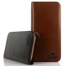 2015 Fashion Men's Long Leather Bifold Billfold Clip Wallet Purse Zip-around