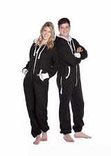 Big Feet - Black Hooded One Piece Jumpsuit - Onesie