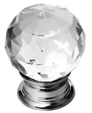 Top Quality Crystal Glass Door Knobs Drawer Cabinet Furniture Kitchen Handle NEW