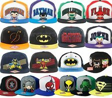 Funko POP DC Marvel Comics Books Heroes Adjustable Snapback Hats Cap Flat Brim