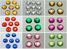 50 Acrylic Flatback Sewing Rhinestone Round Sew on beads 20mm Pick Your Color