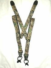 Advantage 'Timber' Camouflage Suspenders - Button on