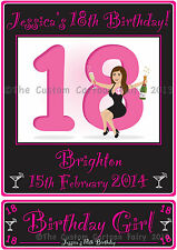 Personalised iron on 18th Birthday T-shirt Transfer & Name plate set on A4