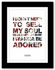 ❤ THE STONE ROSES I Wanna Be Adored #2 ❤ lyric poster art print A1 A2 A3 or A4