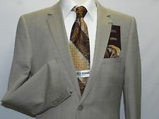 Mens Wool Cashmere Beige Business Suit Giorgio Cosani Two Button 901 Slim Fit