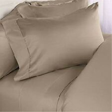 Discounted Dark Beige Solid 1000TC 100%Cotton Choose Bedding Items Free Ship
