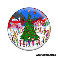 Whoville Christmas Pin Button Badge Fridge Magnet (The Grinch)