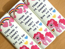 Personalised Chocolate Wrappers - Party Bag Table Favour - Cute Little Pony D1