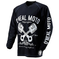 Oneal Mx Gear 2014 Apocalypse Piston Black Motocross Dirt Bike Adult Jersey