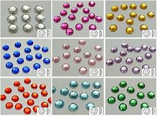 "200 Acrylic Round Flatback Rhinestone Gems 10mm(3/8"") NO Hole Pick Your Color"